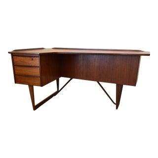 1960s Danish Modern Peter Lovig Nielsen Teak Boomerang Desk
