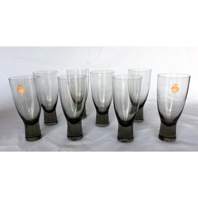 Holmegaard Mid-Century Danish Smokey Wine Port Glasses - Set of 8 - Image 2 of 6