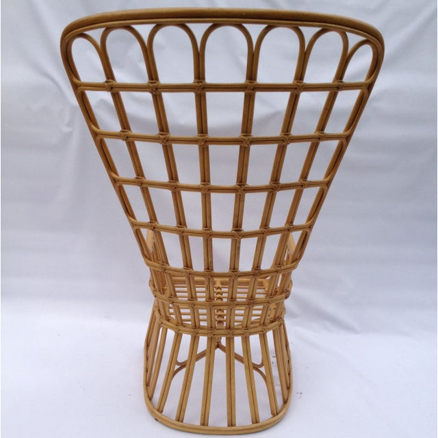 Franco Albini Franco Albini Inspired Wicker Chair For Sale - Image 4 of 4
