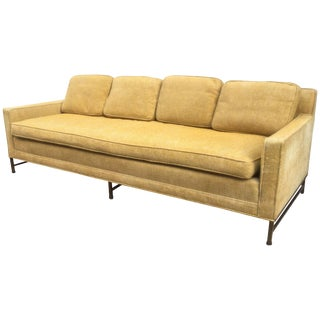 Paul McCobb for Directional Brass Legged Sofa For Sale
