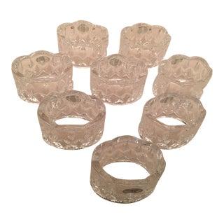 Gorham Crystal Napkin Rings- Set of 8