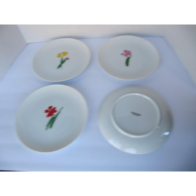 Vintage Salad Plates With Flowers- 4 Pieces For Sale - Image 4 of 5