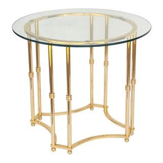 Hollywood Regency Brass Side Table For Sale