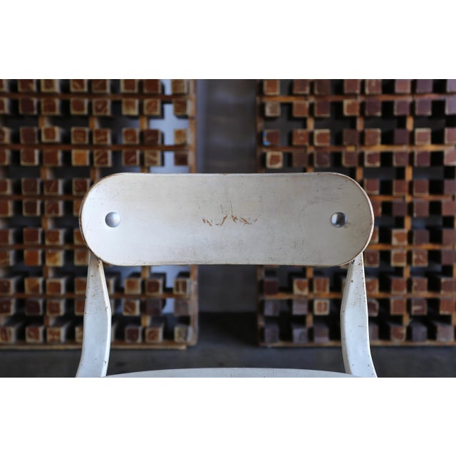 """White 1940s Herman H. Sperlich for Ironrite """"Health"""" Chair For Sale - Image 8 of 13"""