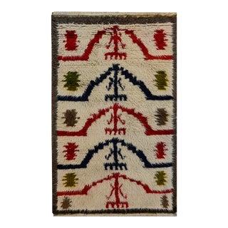 Vintage Mid Century Tulu Rug For Sale
