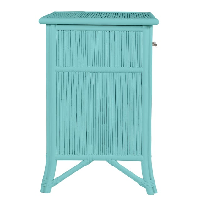 David Francis Aruba One-Drawer Nightstand - Turquoise For Sale - Image 4 of 7