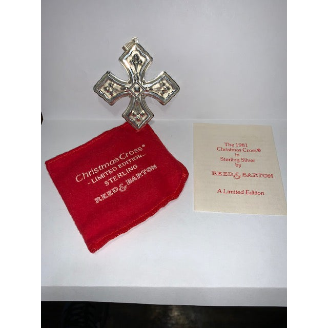 Art Deco 1981 Reed & Barton Sterling Christmas Cross Limited Edition For Sale - Image 3 of 6