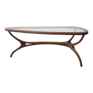 Sculpted Mid Century Brazilian Coffee Table by Giuseppe Scapinelli For Sale