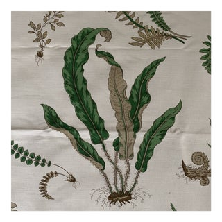 "G. P. & J. Baker ""Ferns"" Fabric- 1 1/4 Yards For Sale"