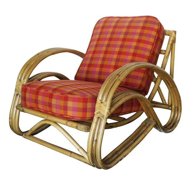 "Rattan Restored Three-Strand ""S-Arm"" Rattan Living Room Set For Sale - Image 7 of 11"