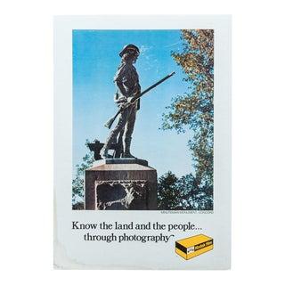 Minuteman Monument, Concord, Kodak Print For Sale