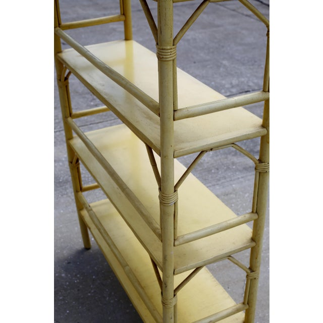 Yellow Vintage Yellow Rattan Etagere - Heavy For Sale - Image 8 of 12