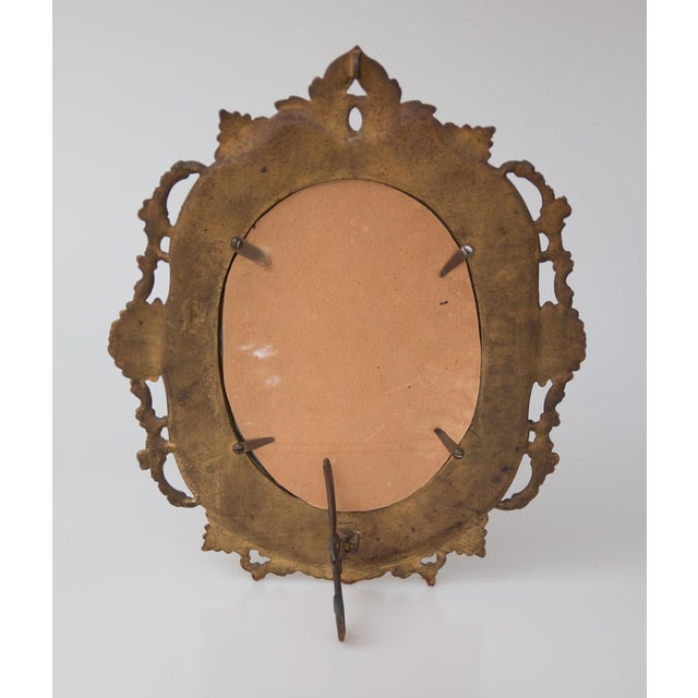 Antique French Bronze Table Dressing Mirror For Sale - Image 4 of 5