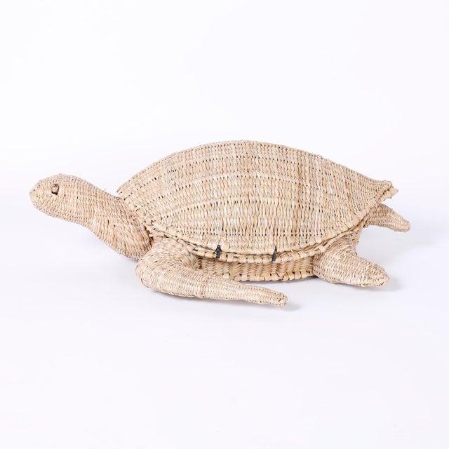 Mario Lopez Torres Mario Torres Wicker Turtle For Sale - Image 4 of 8
