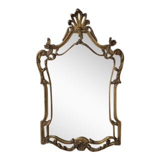 Large Gilt Wood Rococo Mirror For Sale
