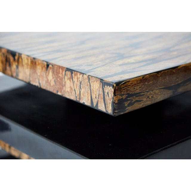 1990s Contemporary Stacked 2-Part Coffee Table For Sale - Image 10 of 11