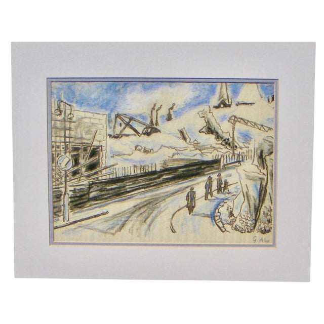 Gustav Alexanderson Swedish Industrial Drawing - Image 1 of 4