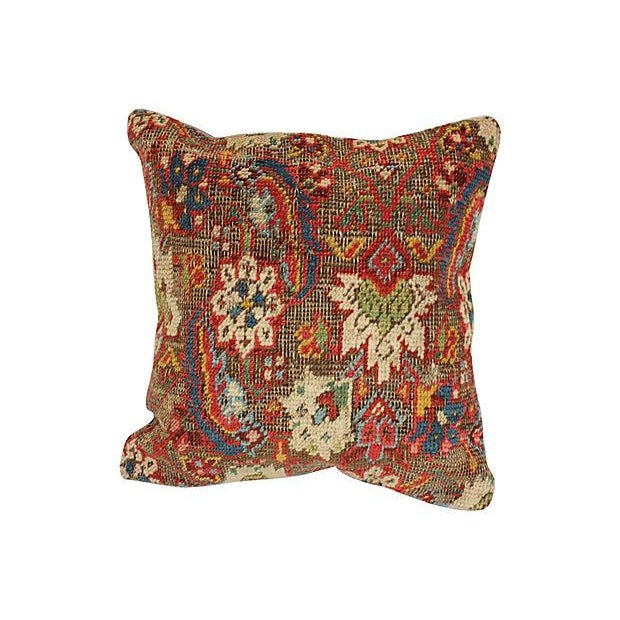 Turkish Wool Rug Fragment Pillow - Image 3 of 4