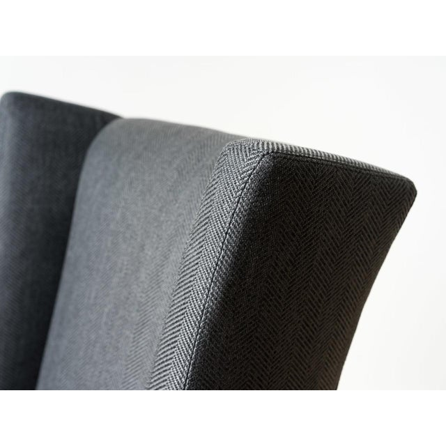 2010s Mid-Century Modern Sydney Black Fabric Office Chair For Sale - Image 5 of 6