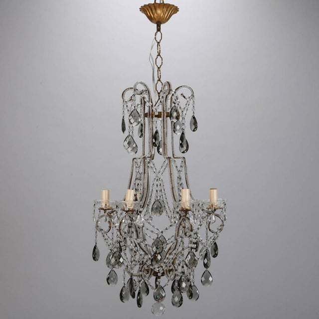 Superior french six light all crystal beaded chandelier with smoke french six light all crystal beaded chandelier with smoke color drops image 2 of 9 aloadofball Choice Image