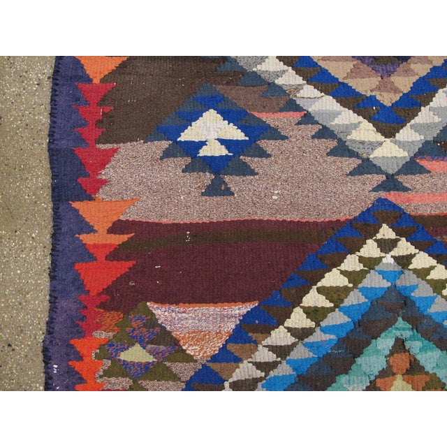"Mid 20th Century Vintage Persian Flatweave Kilim Rug – Size: 5"" X 7' 4"" For Sale - Image 5 of 8"