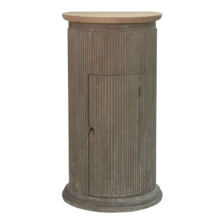 Ridley Fluted Wooden Stand Side Table For Sale