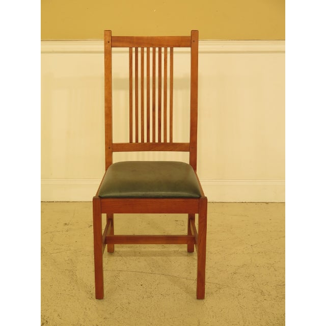 Stickley Mission Style Cherry Dining Room Chairs - Set of 6 | Chairish