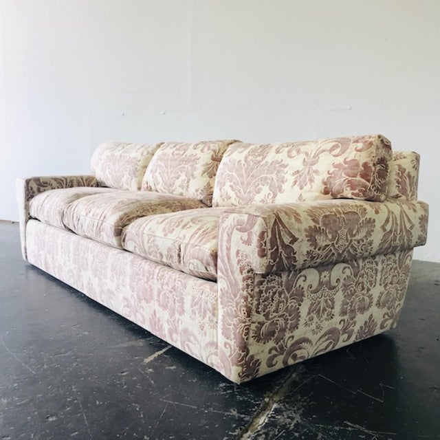 Taupe Custom Fortuny Sofa, Two Available For Sale - Image 8 of 13