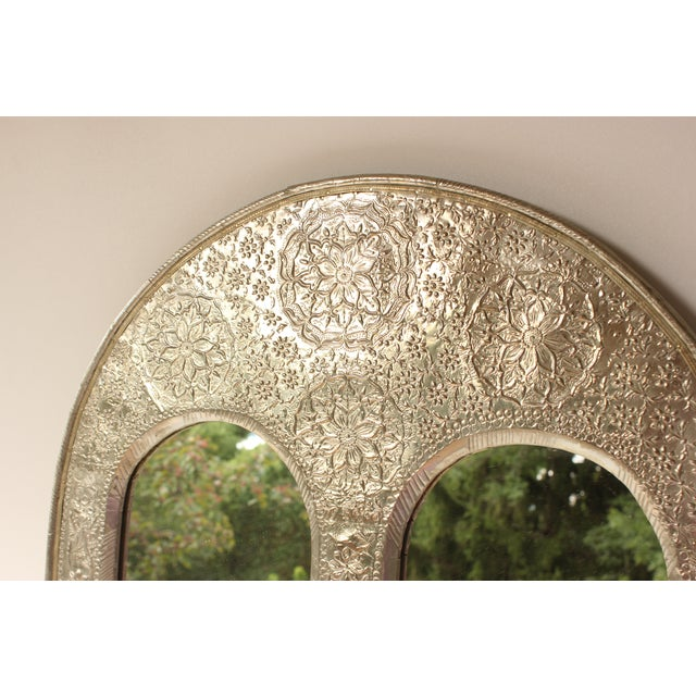 Indian Silver Repoussé Mirror II - Image 2 of 5