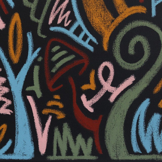 """2020s """"The Jungle Awakens"""" Original Artwork on Canvas by Ilan Leas For Sale - Image 5 of 10"""