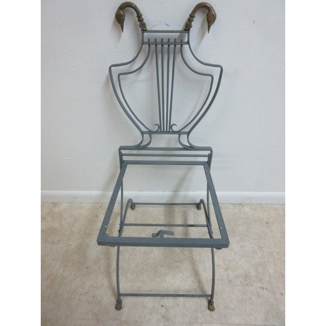 Vintage Lyre Harp Regency Side Chair For Sale - Image 10 of 11