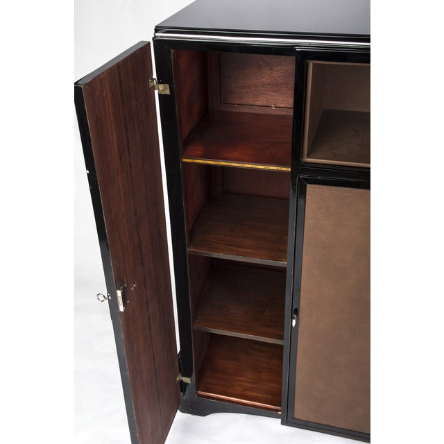1930's Art Deco Highboard Cabinet For Sale - Image 4 of 6