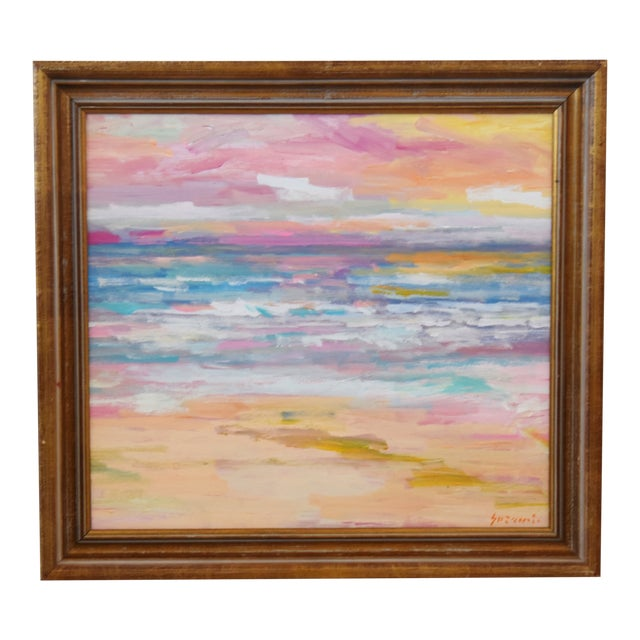 Stunning Impressionist Seascape Painting by Juan Pepe Guzman For Sale