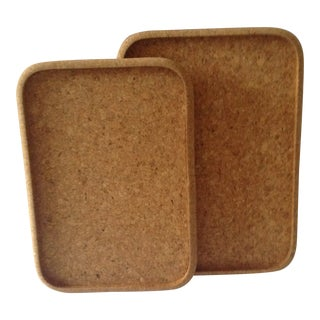 Modern Cork Serving Trays - a Pair For Sale