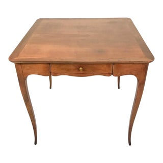 Two-Sided 1940s Fruitwood Carlhian Paris Decorative French Writing or Game Table For Sale