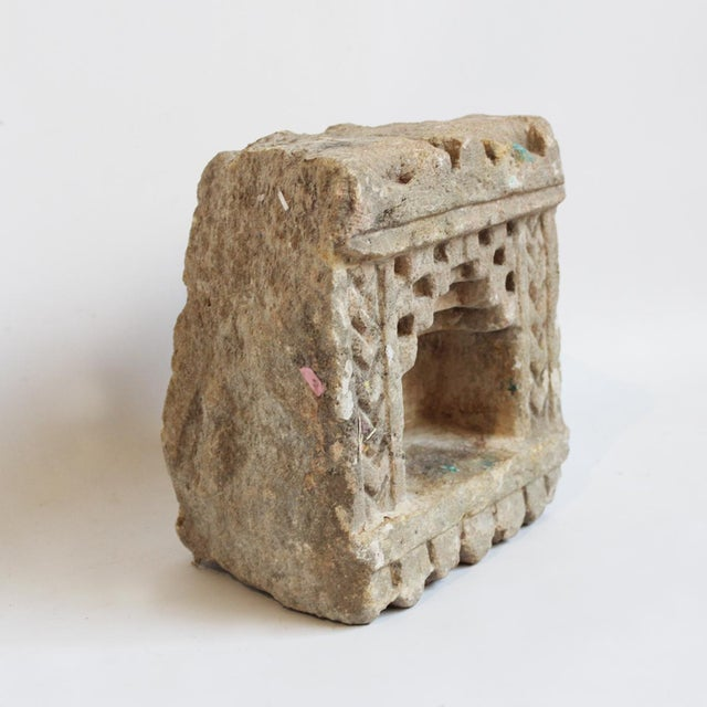 Vintage Sandstone Candle Holder - Image 2 of 2