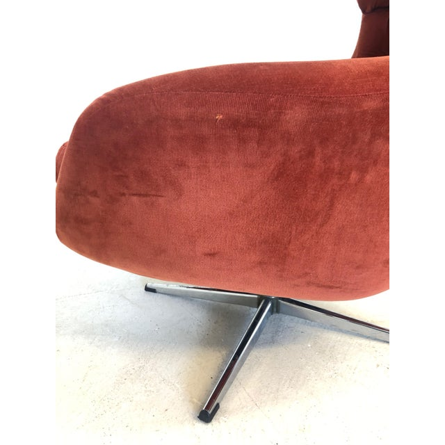 Metal Mid Century Modern Overman Egg Chair For Sale - Image 7 of 8