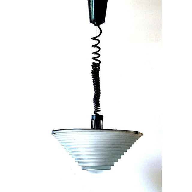 "1979 Vintage Angelo Mangiarotti for Artemide Italia ""Egina"" Pendant For Sale In New York - Image 6 of 6"
