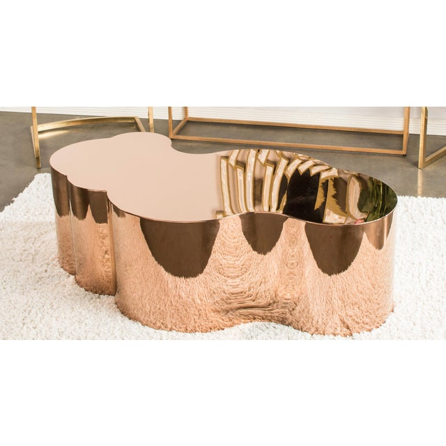 Luca Chrome Gold Coffee Table - Image 2 of 4