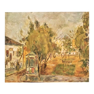 "Rare 1953 Hayyim Glicksberg ""Tel Aviv Landscape"", Original Period Israel Photogravure For Sale"