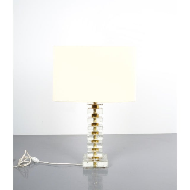 Beautiful pair of large table lamps by Bakalowits & Sohne, Austria. The table lights are composed of smooth and heavy...