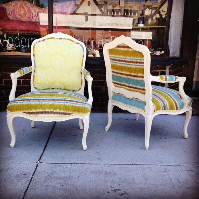 19th French Bergere Chairs - Pair - Image 6 of 6