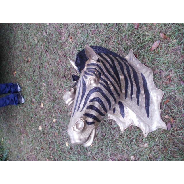 Figurative Cast Bronze Zebra Heads - A Pair For Sale - Image 3 of 5