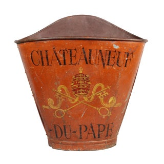 French Tole Grape Basket From the Chateauneuf Du-Pape For Sale