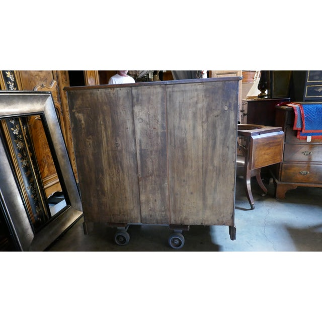 Wallpapered Antique Chest For Sale In Los Angeles - Image 6 of 9