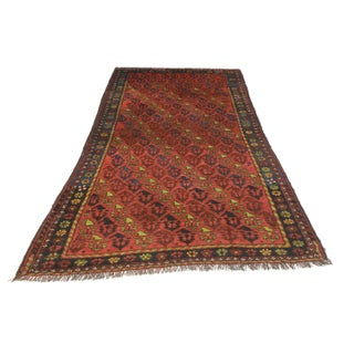 "RugsinDallas Antique Russian Caucasian Area Rug - 3'11"" X 7'4"" For Sale"