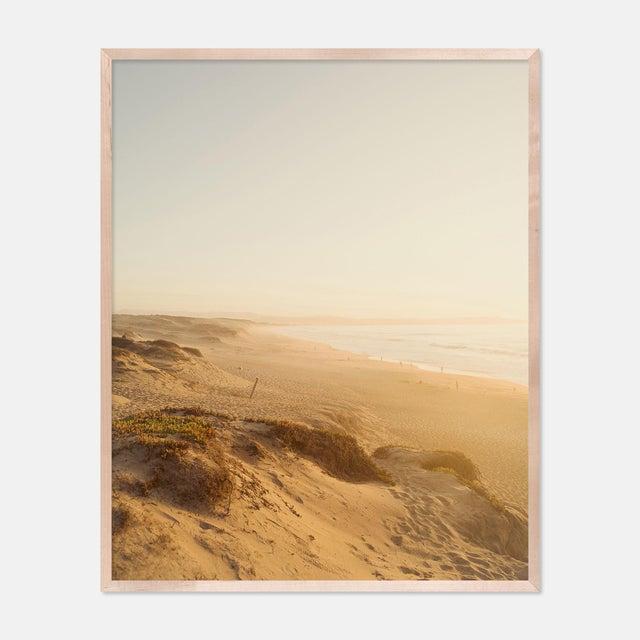 Dunes by Christine Flynn in Natural Maple Framed Paper, Medium Art Print For Sale - Image 4 of 4