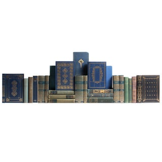 Distressed Blue & Green Classic Books - Set of 25