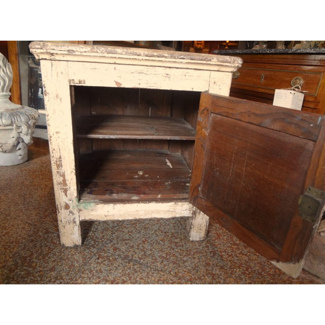 Late 19th Century Rustic French One Door Cabinet For Sale - Image 4 of 12
