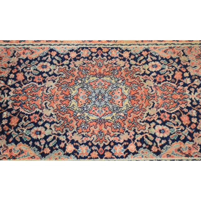 "Textile Karastan Kashan Medallion 2'10"" X 5' Throw Rug #741 (A) For Sale - Image 7 of 13"